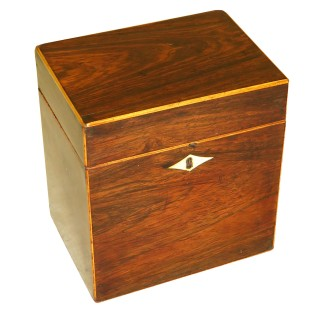Rosewood 18th Century Oblong Tea Caddy