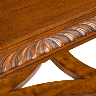 A mahogany centre table from Clumber Park, seat of the 7th Duke of Newcastle