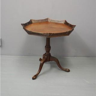 George III Style Mahogany Tray Top Table