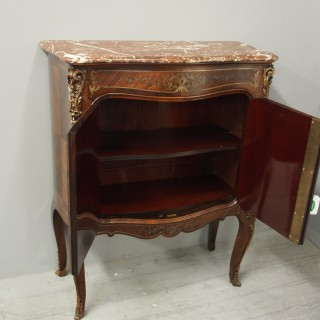 French Serpentine Fronted Rosewood Cabinet