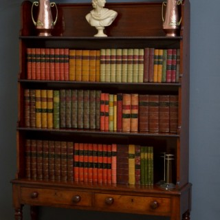 George IV Mahogany Waterfall Bookcase
