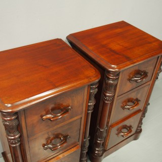 Pair of Victorian Mahogany Lockers or Chest of Drawers