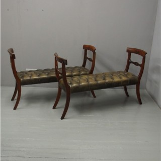 Pair of 19th Century Mahogany Window Seats