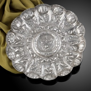 Portuguese Silver salver c.1700