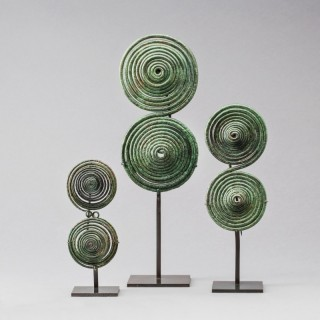 GROUP OF THREE ITALIC FIBULAE CIRCA 8th CENTURY BC