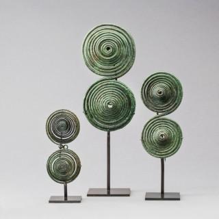 GROUP OF THREE ITALIC FIBULAE CIRCA 8th CENTURY BC