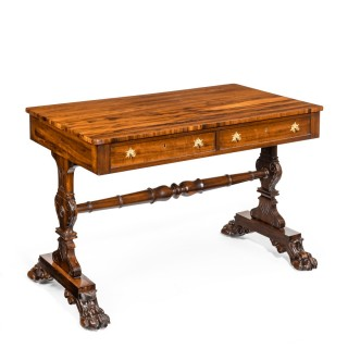 Regency free standing Gonzalo Alves writing table or library table