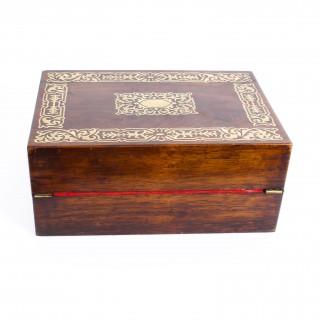 Antique Regency Rosewood Writing & Stationery Slope c.1820 19th C
