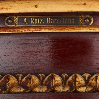 Spanish antique parcel gilt wood pedestal stand