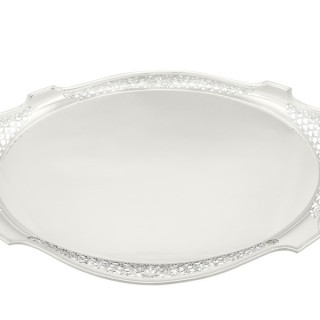 Sterling Silver Tea Tray - Antique George V (1912)
