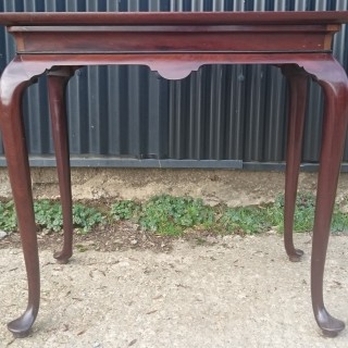 18th Century George II Period Mahogany Antique Silver Table