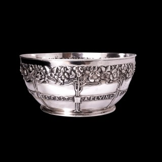 A David Veazey sterling silver rose bowl