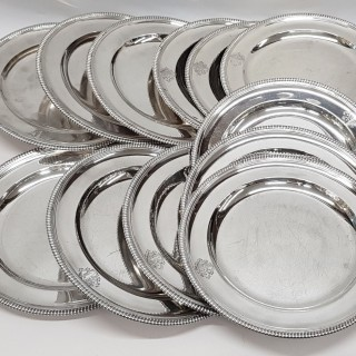 Antique George III Silver Dinner Plates