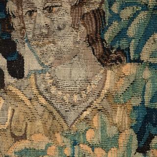17TH CENTURY FLEMISH MYTHOLOGICAL TAPESTRY  'CEPHALUS AND PROCRIS'