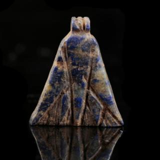 Lapis Lazuli Lotus Flower Amulet