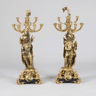A Pair of Napoleon III Candelabra