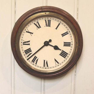 Solid Oak School Clock