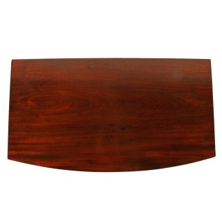 Regency Mahogany Bow Front Side Table