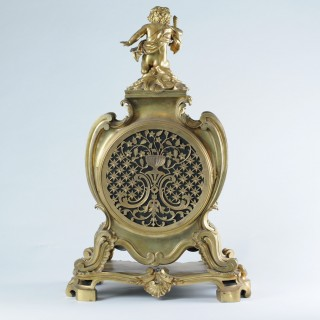 Fine and large gilt mantel Clock by Henry Dasson of Paris