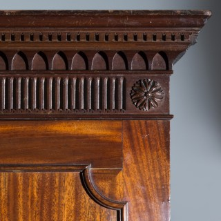 George III Chippendale Mahogany Clothes Press
