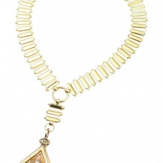 "18 ct. Gold Necklace with Locket as Pendant ""Bookchain"" with Pearls & Diamonds, from Victorian England approx. 1880"