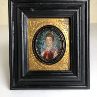 16th century Oil On Copper Portrait Miniature