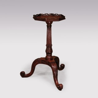 18th Century Chippendale Mahogany Pierced Galleried Kettle Stand