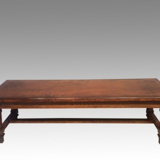 19th century oak countryhouse hall bench.
