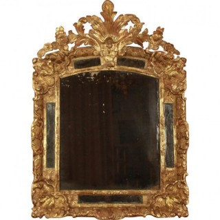 French early 18th Century Régence Giltwood Mirror