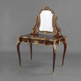 A Louis XV Style Mahogany Dressing Table