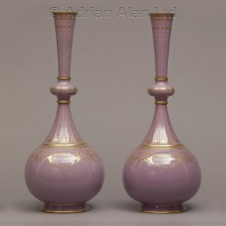 An Exceptionally Rare Pair of Sèvres Porcelain Presentation Vases