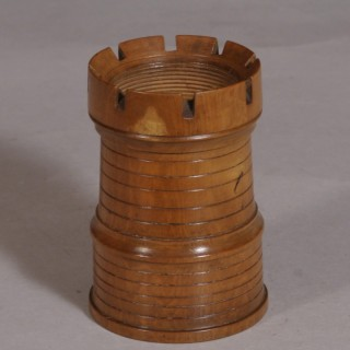Antique Treen 19th Century Boxwood Dice Shaker