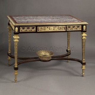 An Exceptional Louis XVI Style Gilt-Bronze Mounted Centre Table