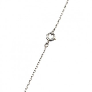 Platinum Pendant with chain, a Cross pendant with Diamonds from Art déco approx. 1920s