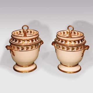 Early 19th Century Pair Of Spode Porcelain Ice-Pails
