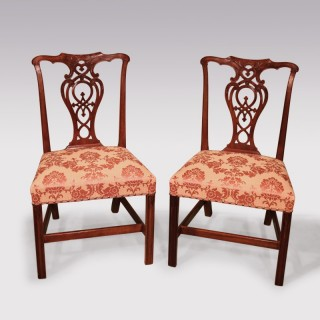 A Set Of Mid 18th Century Chippendale Mahogany Side Chairs