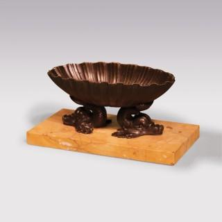 19th Century Bronze Shell-Shaped Bath