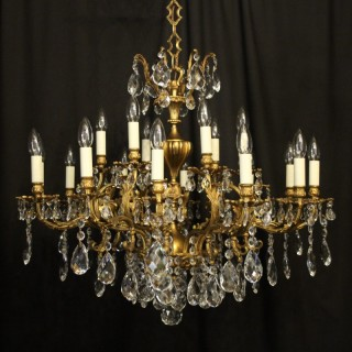 Italian Gilded 18 Light Antique Chandelier