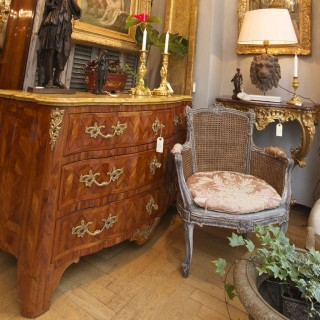 French Early 18th Century Gilt-Bronze and Parquetry Commode or Chest of Drawers