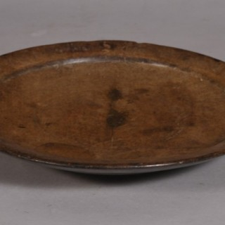 Antique Treen 18th Century Sycamore Footed Platter