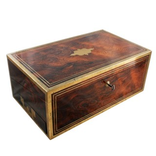 Regency Rosewood Brass Bound Box Desk
