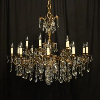 Italian Gilded 20 Light Antique Chandelier
