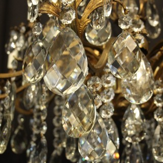 Italian Gilded 20 Light Antique Chandelier
