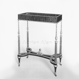 An Unusual Louis XVI Style Vitrine Table In The Manner of Weisweiller