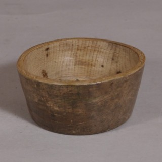 Antique Treen 19th Century Sycamore Butter Mould