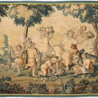 EARLY 18TH CENTURY AUBUSSON TAPESTRY, ALLEGORY OF SUMMER