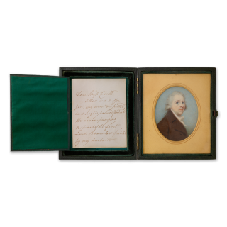 SIR FRANCIS LEGATT CHANTREY (1781-1841) Portrait miniature of John Cust, 1st Earl Brownlow GCH (1779-1853)