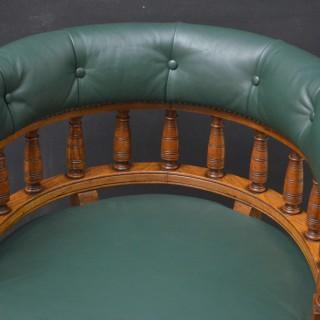 Victorian Office Chair in Oak
