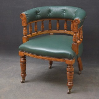 Victorian Office Chair in Oak