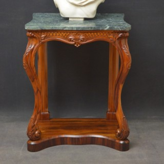 Early Victorian Goncalo Alves Console Table